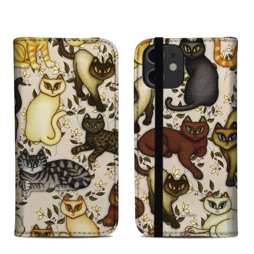 Cats iPhone 12 mini Folio Case