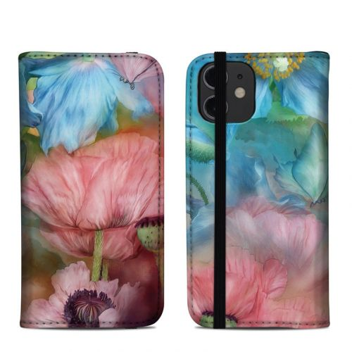 Poppy Garden iPhone 12 mini Folio Case