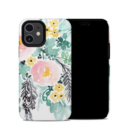 Blushed Flowers iPhone 12 mini Hybrid Case