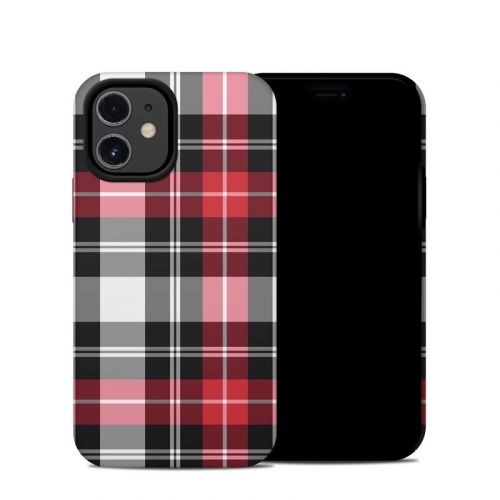 Red Plaid iPhone 12 mini Hybrid Case
