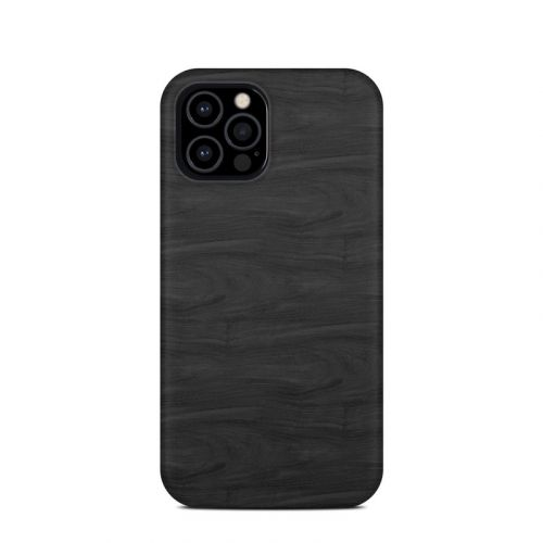Black Woodgrain iPhone 12 Pro Clip Case