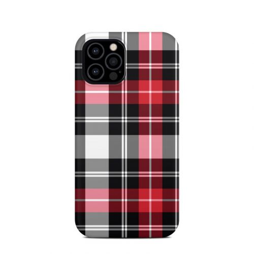 Red Plaid iPhone 12 Pro Clip Case