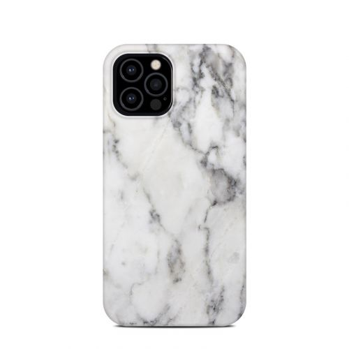 White Marble iPhone 12 Pro Clip Case
