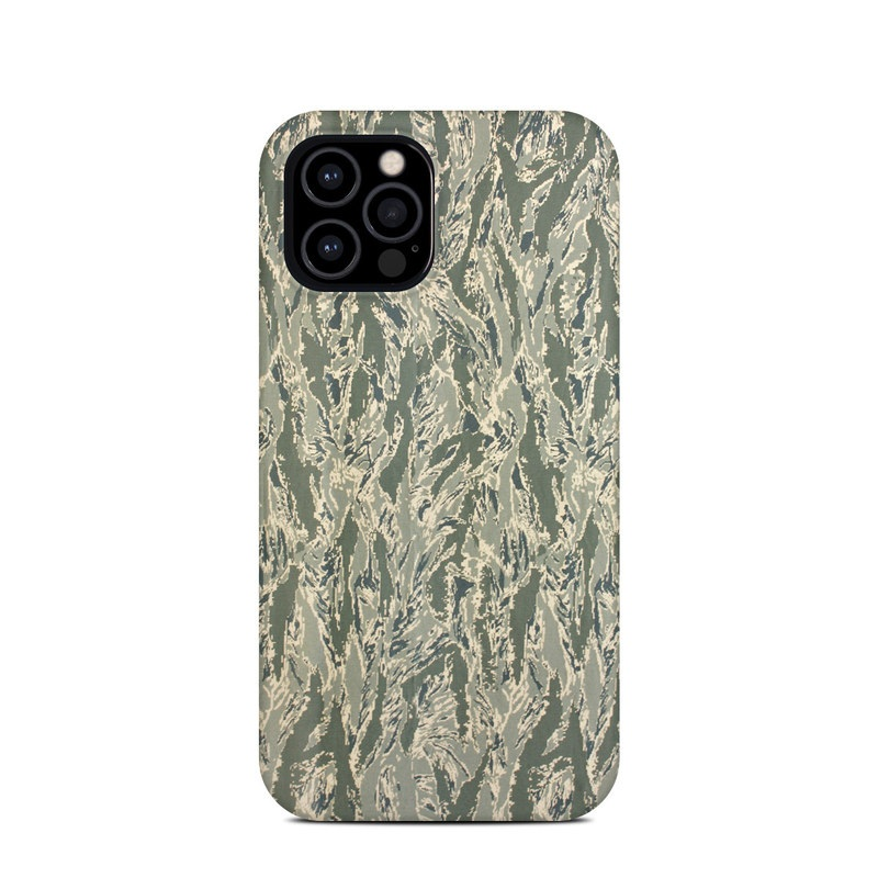 iPhone 12 Pro Clip Case design of Pattern, Grass, Plant with gray, green colors