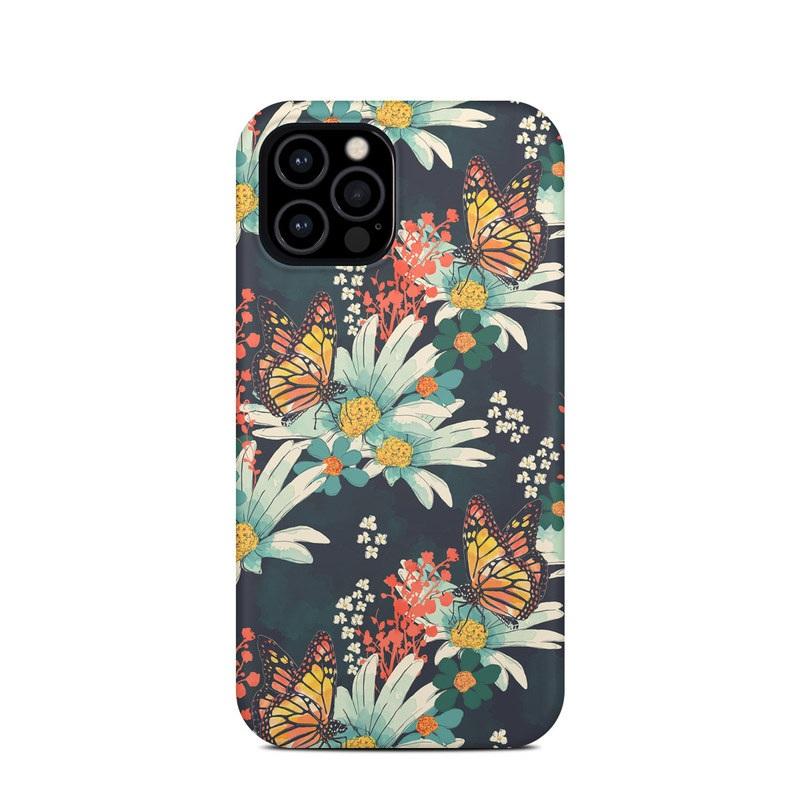 iPhone 12 Pro Clip Case design of Floral design, Pattern, Flower, Floristry, Textile, Botany, Plant, Visual arts, Design, Flower Arranging with black, gray, green, red, blue, pink colors