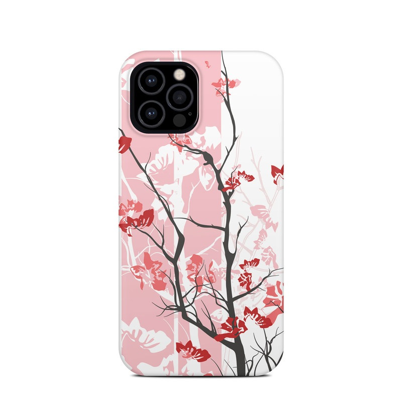 iPhone 12 Pro Clip Case design of Branch, Red, Flower, Plant, Tree, Twig, Blossom, Botany, Pink, Spring with white, pink, gray, red, black colors
