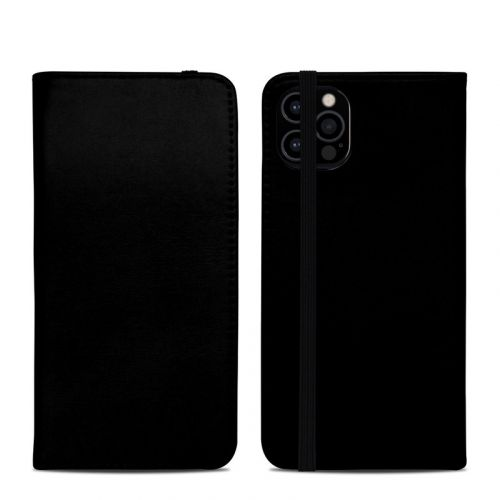 Solid State Black iPhone 12 Pro Folio Case