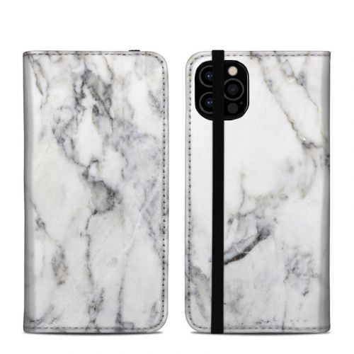 White Marble iPhone 12 Pro Folio Case