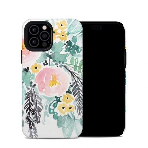 Blushed Flowers iPhone 12 Pro Hybrid Case