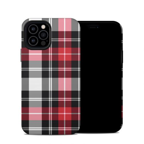 Red Plaid iPhone 12 Pro Hybrid Case