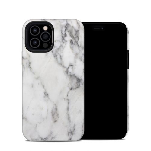 White Marble iPhone 12 Pro Hybrid Case