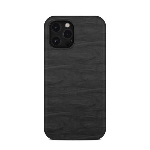 Black Woodgrain iPhone 12 Pro Max Clip Case