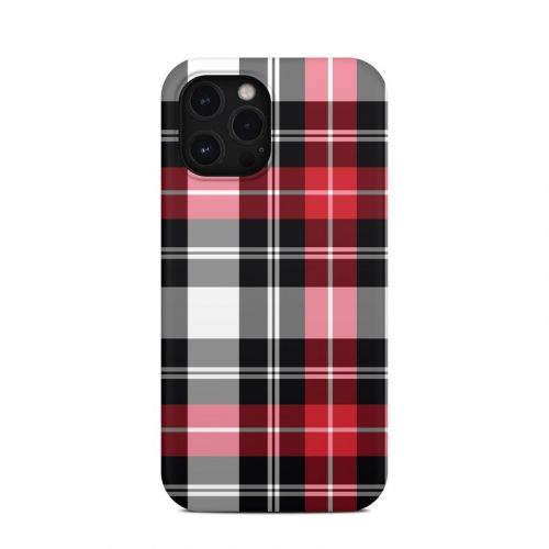 Red Plaid iPhone 12 Pro Max Clip Case