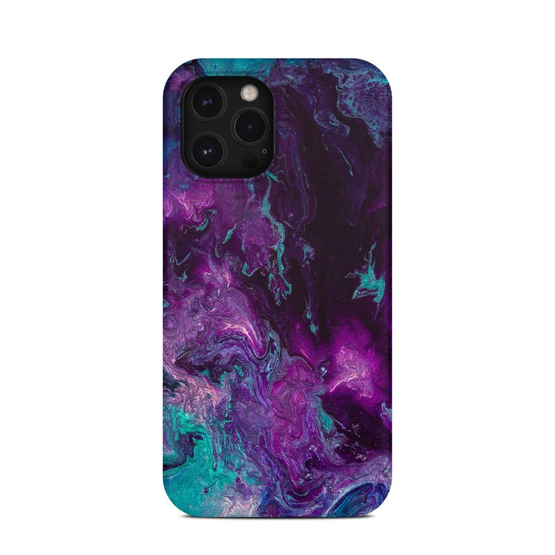 iPhone 12 Pro Max Clip Case design of Blue, Purple, Violet, Water, Turquoise, Aqua, Pink, Magenta, Teal, Electric blue with blue, purple, black colors
