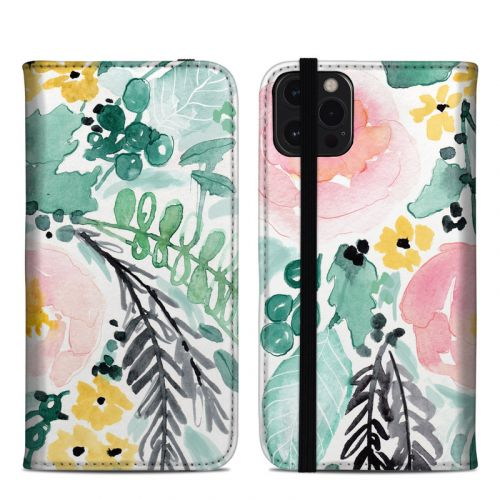 Blushed Flowers iPhone 12 Pro Max Folio Case