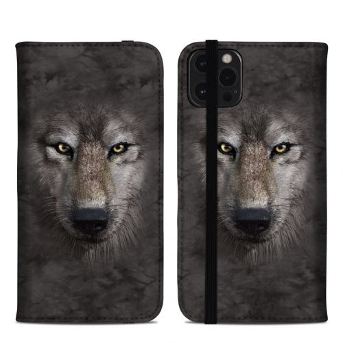 Grey Wolf iPhone 12 Pro Max Folio Case