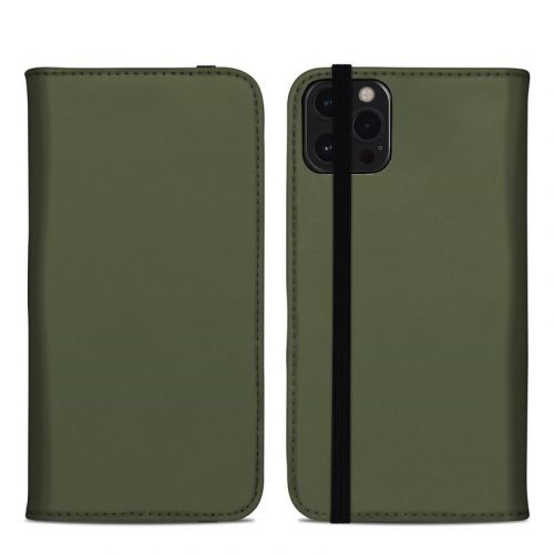 Solid State Olive Drab iPhone 12 Pro Max Folio Case