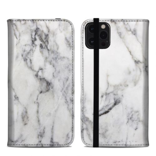 White Marble iPhone 12 Pro Max Folio Case