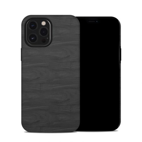 Black Woodgrain iPhone 12 Pro Max Hybrid Case