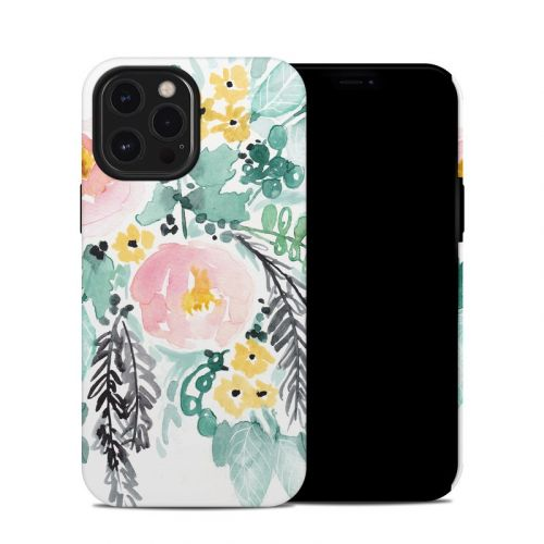 Blushed Flowers iPhone 12 Pro Max Hybrid Case