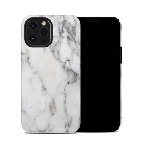 White Marble iPhone 12 Pro Max Hybrid Case