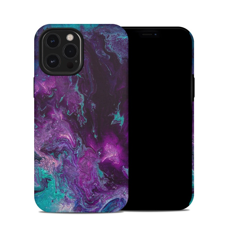 iPhone 12 Pro Max Hybrid Case design of Blue, Purple, Violet, Water, Turquoise, Aqua, Pink, Magenta, Teal, Electric blue with blue, purple, black colors