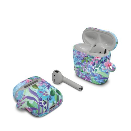 Lavender Flowers Apple AirPods Case