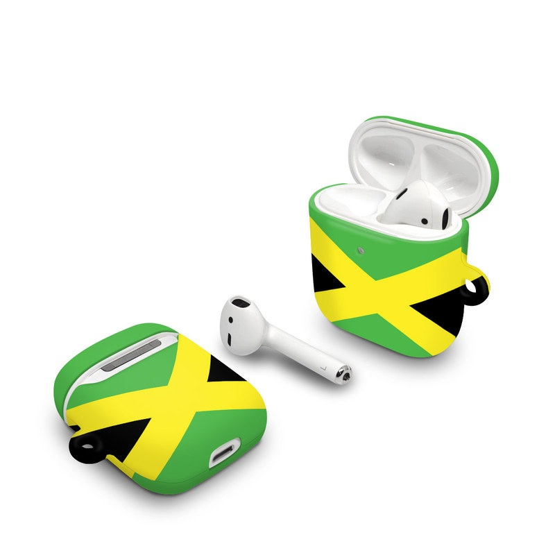 Apple AirPods Case design of Green, Flag, Yellow, Macro photography, Graphics, Graphic design with black, green, yellow colors