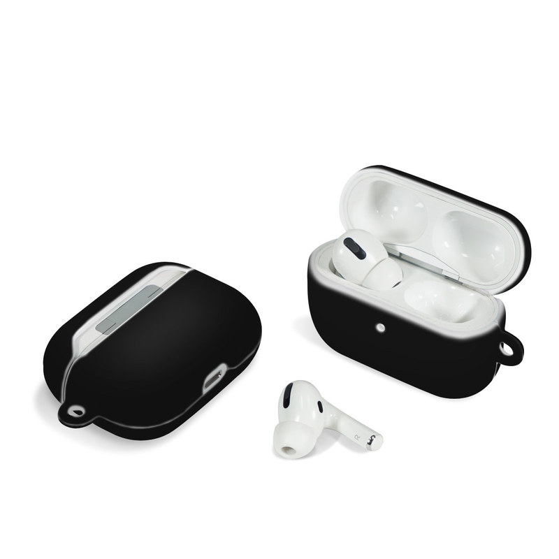 Apple AirPods Pro Case design of Black, Darkness, White, Sky, Light, Red, Text, Brown, Font, Atmosphere with black colors