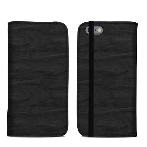 Black Woodgrain iPhone 6s Folio Case