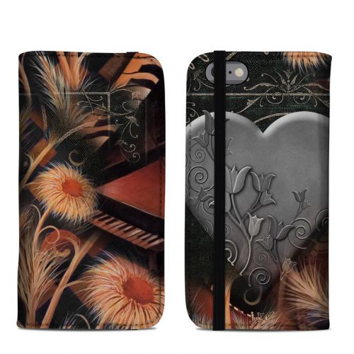 Black Lace Flower iPhone 6s Folio Case