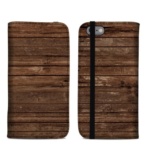Stripped Wood iPhone 6s Folio Case
