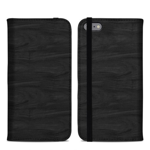 Black Woodgrain iPhone 6s Plus Folio Case