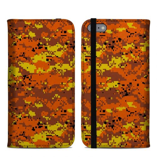 Digital Orange Camo iPhone 6 Plus Folio Case