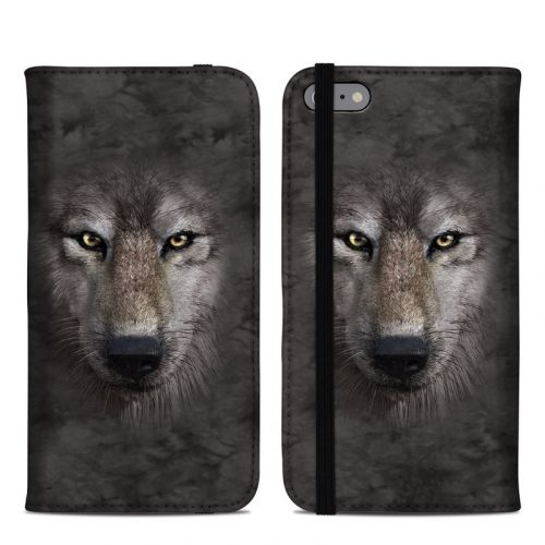 Grey Wolf iPhone 6s Plus Folio Case