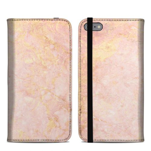 Rose Gold Marble iPhone 6s Plus Folio Case