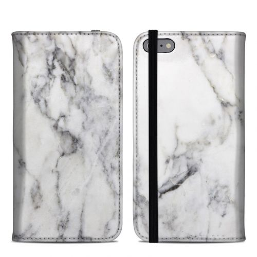 White Marble iPhone 6s Plus Folio Case