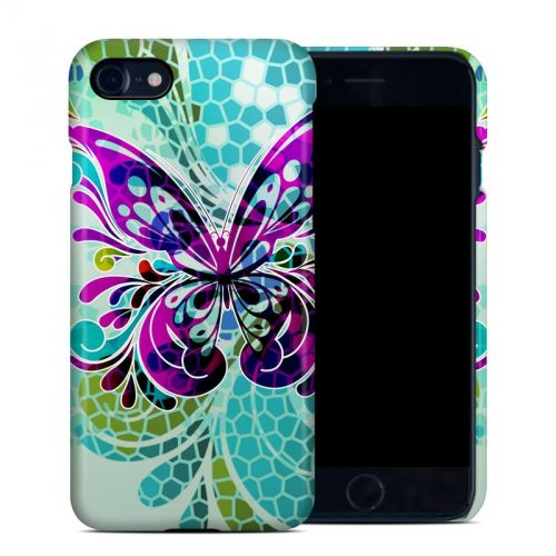 Butterfly Glass iPhone 8 Clip Case