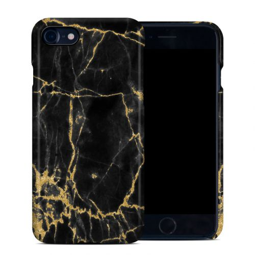 Black Gold Marble iPhone 8 Clip Case