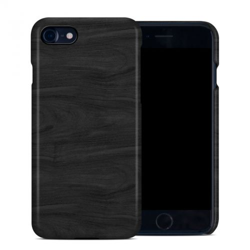 Black Woodgrain iPhone 8 Clip Case