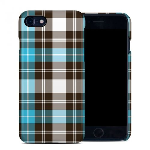 Turquoise Plaid iPhone 8 Clip Case