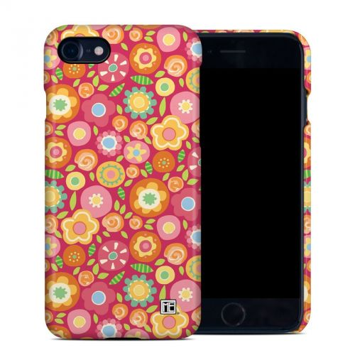 Flowers Squished iPhone 8 Clip Case