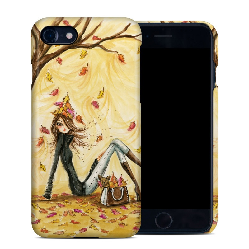 iPhone 8 Clip Case design of Painting, Watercolor paint, Tree, Art, Illustration, Plant, Modern art, Visual arts, Still life, Fictional character with yellow, red, brown, orange, black, white colors