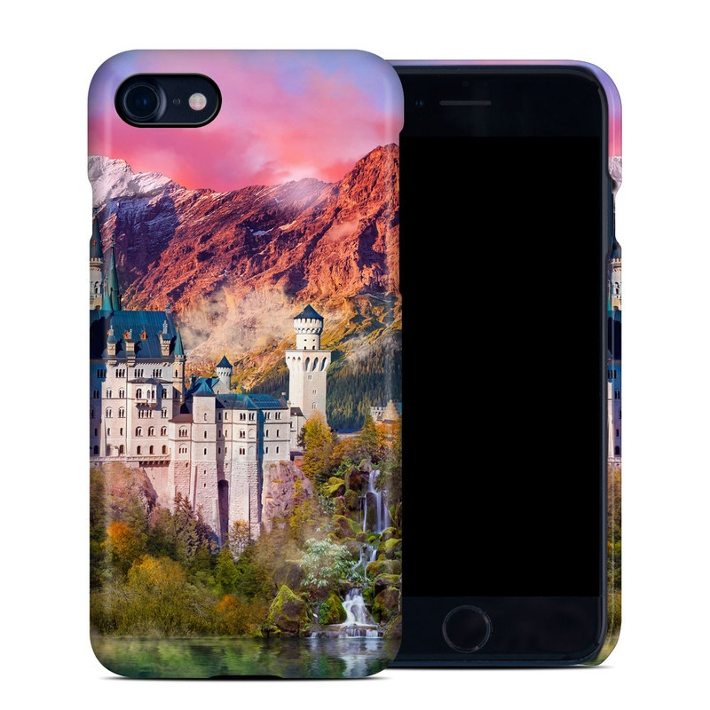 iPhone 8 Clip Case design of Natural landscape, Nature, Landmark, Sky, Painting, Landscape, Castle, Mount scenery, Mountain, World with red, blue, white, green, orange, yellow colors