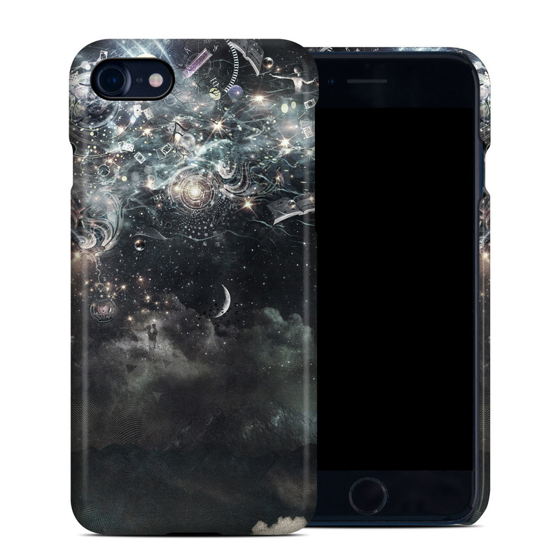 iPhone 8 Clip Case design of Space, Cg artwork, Art, Sky, Darkness, Illustration, Graphic design, Outer space, Graphics, Animation with white, black, gray, yellow colors