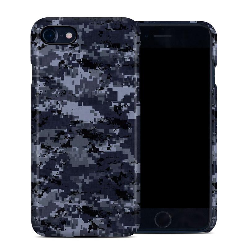 Digital Navy Camo iPhone 8 Clip Case