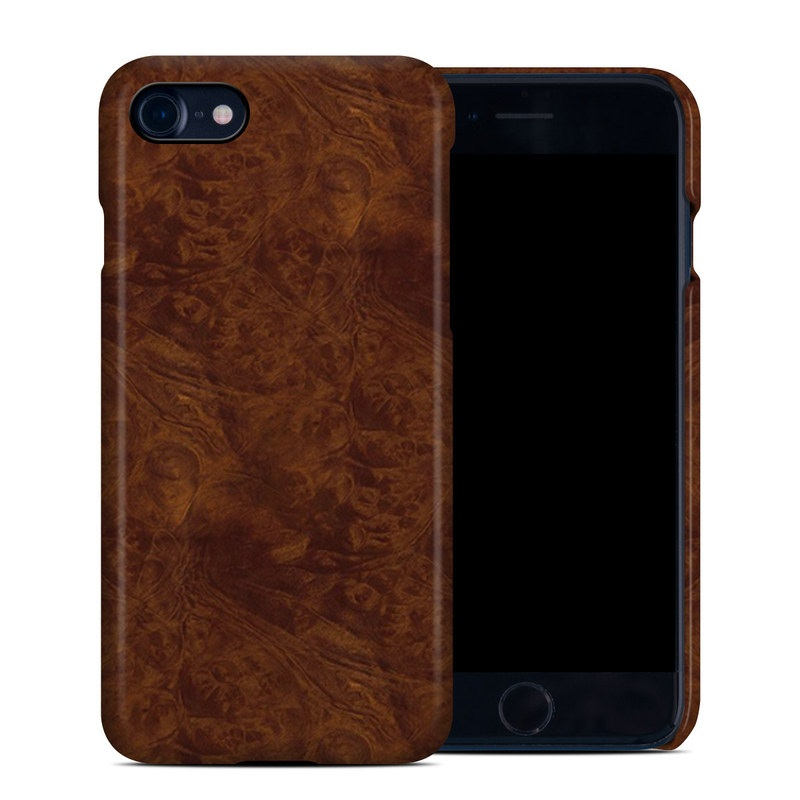 Dark Burlwood iPhone 7 Clip Case