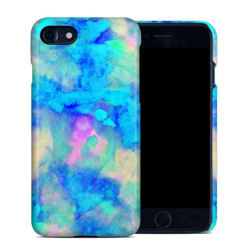 iPhone 8 Clip Case design of Blue, Turquoise, Aqua, Pattern, Dye, Design, Sky, Electric blue, Art, Watercolor paint with blue, purple colors
