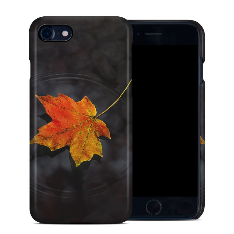 iPhone 8 Clip Case design of Leaf, Maple leaf, Tree, Black maple, Sky, Yellow, Deciduous, Orange, Autumn, Red with black, red, green colors