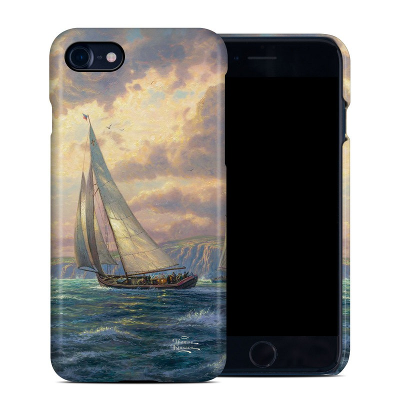 iPhone 8 Clip Case design of Sailing, Sail, Vehicle, Water transportation, Boat, Sailboat, Schooner, Galway hooker, Watercraft with gray, black, green, blue, red colors